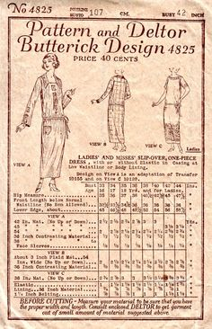 1920's Slip Over Downton Abbey Pattern by VintageNeedleFinds