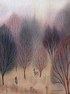 November woods / Ulla Thynell illustration 2017