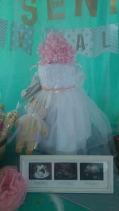 Diaper Cake Princess dress!! Hit of the party!! These beautiful diaper cakes are so fun to make and give as a gift. Each one I've made ended up being the center piece decoration. You will love making this!!