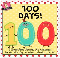 "Your 100th Day of School is planned in a snap with this ""print-and-go"" themed unit that's perfect for students in grades K, 1st, & 2nd! Includes 8 Different Activities and one written assessment!"