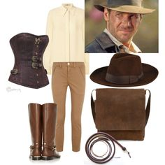 """Female Indiana Jones """"Cosplay"""" by rhudson81 on Polyvore."""