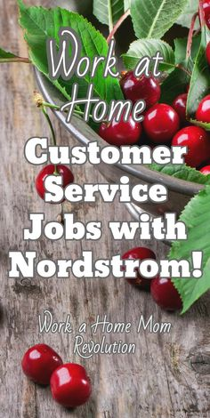 Work at Home Customer Service Jobs with Nordstrom! Nordstrom is hiring work at home customer service agents in California. The company offers it's home-based employees excellent benefits. Super work from home opportunity! Work a Home Mom Revolution