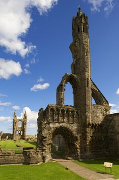 Blue skies over St Andrews Cathedral, definitely worth a look during the year of England And Scotland, Fife Scotland, Scotland History, Scotland Castles, Travel Around The World, Around The Worlds, Castle Ruins, St Andrews, Scotland Travel