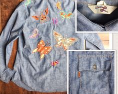A personal favorite from my Etsy shop https://www.etsy.com/listing/533399071/vtg-70s-orange-tab-big-e-chambray-levis