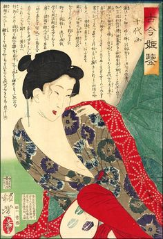 Yoshitoshi's series 'Kokon hime kagami (Mirror of Beauties Past and Present - 古今   姫   鑑)'.