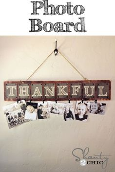 Photo board of your family members! Nice wall decoration for the party