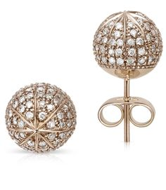 Copernicus Collection. Pair of Earrings Darkened Noble Gold with white diamonds by H.Stern.