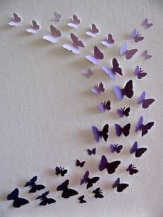 Purple Paint Chips Recycled 3D Butterfly by aboundingtreasures  So cute for a little girl's room...wish I had one!!