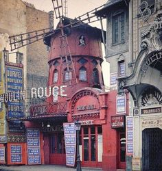The original Moulin Rouge the year before it burned down, Paris, 1914. Photograph from Albert Kahn museum collection
