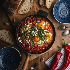 Spiced Chorizo And Tomato Shakshuka Recipe by Tasty - Lunch Recipes
