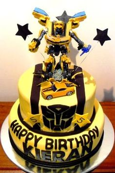 Bumblebee / Transformers BirthdayCake, via Flickr. ~ think this is the one!