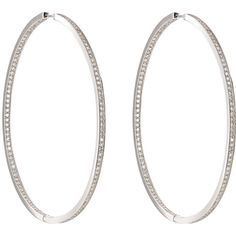 Ambre Victoria Oversized Hinged Hoops ($19,540) ❤ liked on Polyvore featuring jewelry, earrings, colorless, 18 karat gold earrings, clear crystal earrings, sparkly earrings, hinged earrings and earrings jewelry