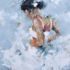 'Giselle' oil and acrylic on canvas, 40x40xcm, Dorus Brekelmans, 2016