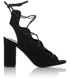 1e4b37f0c40 Get the must-have sandals of this season! These Saint Laurent Black Babies  Lace-up Suede Sandals Size EU 39 (Approx. US Regular (M
