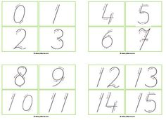 Voorbereidend schrijven van cijfers Kids Daycare, Math For Kids, Letter School, Handwriting Sheets, A Classroom, School Themes, Kids Writing, Home Schooling, Pre School