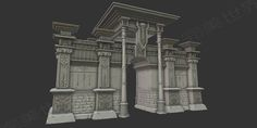 ArtStation - 3D city gate/port model (next generation game), P W