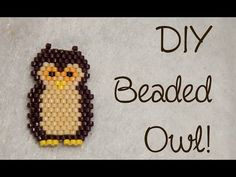 DIY Bead Owl Brick Stitch Charm ¦ The Corner of Craft ~ Seed Bead Tutorials