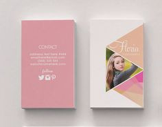 Floria double sided business card Instant by deideigraphic, $100.00 ソーシャルアカウントのロゴがいまっぽい