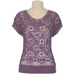 Floral Crochet Front Sweater and other apparel, accessories and trends. Browse and shop 1 related looks.