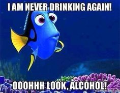 I'm never drinking again.