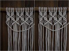Kaarnan katveessa: Kuvalliset ohjeet: makramee seinävaate Diy And Crafts, Weaving, Challenges, Creative, Gifts, Basket Weaving, Knives, Headboards, Ornaments