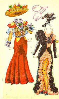 Carmen Miranda paper doll clothes