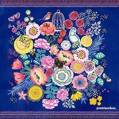 Rich and lavish. This lovely work is the essence of joy!@miriambos_  #surfacedesign#licensing#artistsoninstagram#luckiestagentever #jennifernelsonartists#illustration#pattern#surfacepattern#surfacepatterndesign#illustratorsoninstagram #illustration#artlicensing #floral
