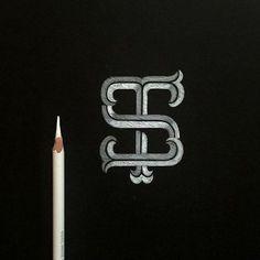 My new logo 'ST' monogram. Design by my bro thanks man! Monogram Logo, Monogram Initials, Monogram Letters, Monogram Design, Badge Design, Logo Design, Graphic Design, Two Letter Logo, Personal Training Logo