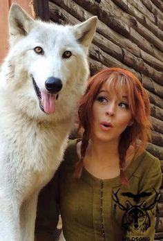 Lindsey with Wolf <3
