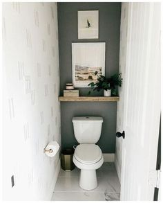 Small Downstairs Toilet, Small Toilet Room, Small Toilet Decor, Small Toilet Design, Small Shower Room, Bad Inspiration, Bathroom Inspiration, Toilet Room Decor, Toilet Wall