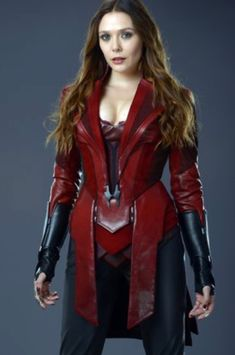 NEW Elizabeth Olsen as Scarlet Witch in promotional photo from Avengers Age Of Ultron Marvel Women, Marvel Girls, Marvel Dc, Marvel Comics, Captain Marvel, Scarlet Witch Costume, Scarlet Witch Marvel, Costume Rouge, Harley Queen