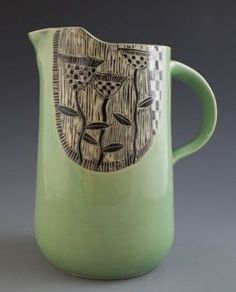 Patricia Griffin Studio: Now at Studios on the Park in Paso Robles, Ca click the image for more details. Glazing Techniques, Painting Techniques, Pottery Painting, Ceramic Painting, Ceramic Pottery, Pottery Art, Mugs And Jugs, Ceramic Pitcher, Art Corner