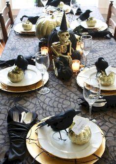 cool 40 Stunning Halloween Wedding Table Settings Ideas  http://viscawedding.com/2017/11/11/40-stunning-halloween-wedding-table-settings-ideas/
