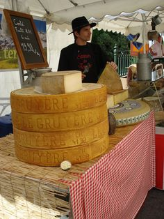 Cheese! Provence market.  We purchased cheese from him!