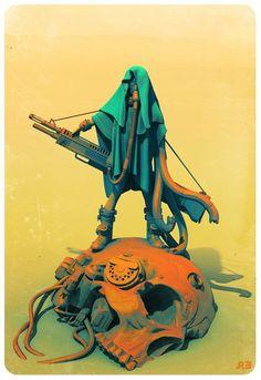 Jack the Giant Hunter, pascal blanche on ArtStation at https://www.artstation.com/artwork/wPO0g