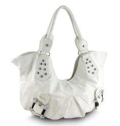 Makayla Hobo Handbag in White