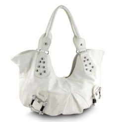 Makayla Hobo Handbag in White