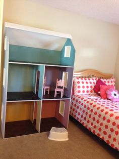 American Girl Doll House using Ana White plans & Annie Sloan Chalk Paint.
