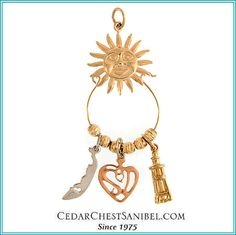 Just charming!  Our 14Kt and Sterling Silver Charm holders are available with/without charms