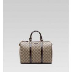 Gucci Joy Medium Boston Bag Beige With Dark Brown BXS