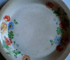 Vintage Ironstone Pie Plate / Pan by DreamsUnderfootShop on Etsy, $12.00