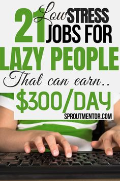 Are you a lazy person looking for simple ways to make money online? Check out these work from home jobs for looking online jobs they can use to earn extra cash during your spare time. These stay at home jobs are ideal for anyone even people without a college degree. #onlinejobs #workfromhomejobs #sidejobs #makemoneyonline #stayathomejobs #money #finance #jobs #parttimejobs #sidejobs #lazypeoplejobs #lowstressjobs