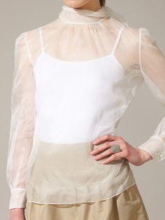 Valentino Sheer Silk Organza Blouse