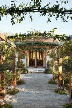 Love this entrance of espalier by Joanna Gaines. This is a special episode as my garden is truly the place where I find the most peace! Learn more about the design behind my garden and the unique design pieces we added to the garden shed.