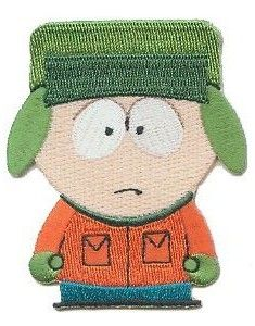 South Park Kyle Iron On Patch features Kyle in orange jacket with the green gloves and hat he seems to always be wearing. Pin And Patches, Iron On Patches, South Park Characters, Green Gloves, Orange Jacket, Clothing Patches, Comedy Central, Badge, Hello Kitty