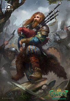 View an image titled 'Heymaey Skald Art' in our Gwent: The Witcher Card Game art gallery featuring official character designs, concept art, and promo pictures. Dark Fantasy, Fantasy Dwarf, Fantasy Rpg, Medieval Fantasy, Fantasy Artwork, Dungeons And Dragons Characters, Dnd Characters, Fantasy Characters, Fantasy Character Design