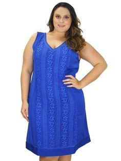 VESTIDO PLUS SIZE RENDA ROYAL JULIA PLUS NA ZUYA
