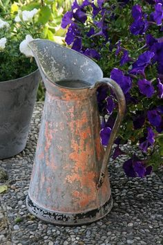 THIS OLD PITCHER!!!!!!!Love patina...weathered and worn.....