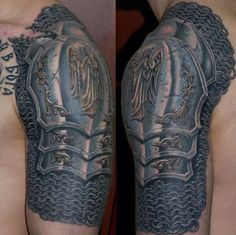 Such a simple idea and yet I've never seen it before! Highly detailed armour piece by Dmitri Bronya