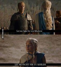 Daenerys senza cuore. Mi piace!
